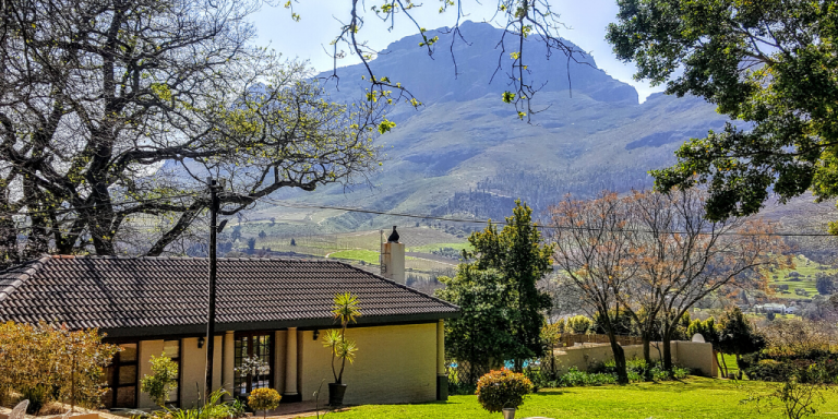 The Cape Winelands in South Africa